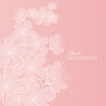 桜の花,背景 ベクターイラスト素材