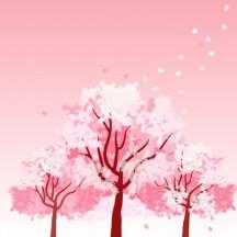 桜の木,花びら ベクターイラスト素材
