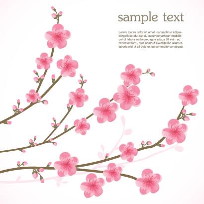 桜の花,かわいい ベクターイラスト素材