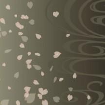桜の花びら,桜吹雪,和柄背景 ベクターイラスト素材