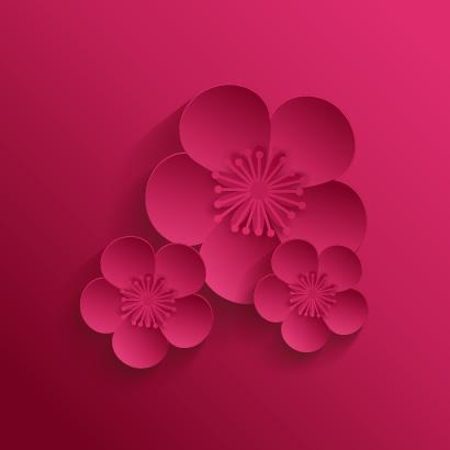 桜の花,シンボルマーク ベクターイラスト素材