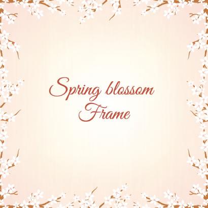 桜の花,花飾り,フレーム枠 ベクターイラスト素材