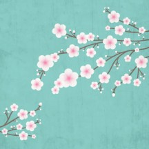 桜の木,グランジ風背景 ベクターイラスト素材