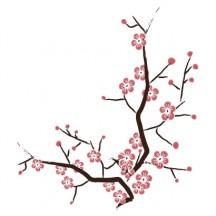 桜の木,手描き風 ベクターイラスト素材